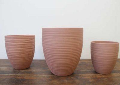Lokken Keramiek Potten Turin Handmade Stone Browncopper
