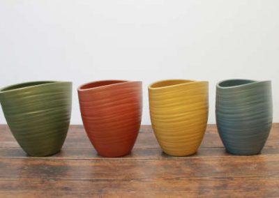 Lokken Keramiek Potten Turin Ovaal Handmade Pearl kleuren