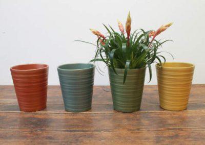Lokken Keramiek Potten Conisch Hoog Handmade Pearl kleuren