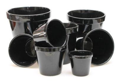 Lokken Keramiek Bloempotten Conica 850 glans zwart