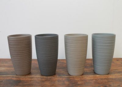 Lokken Keramiek Vaas Chic Handmade Stone grijs tinten